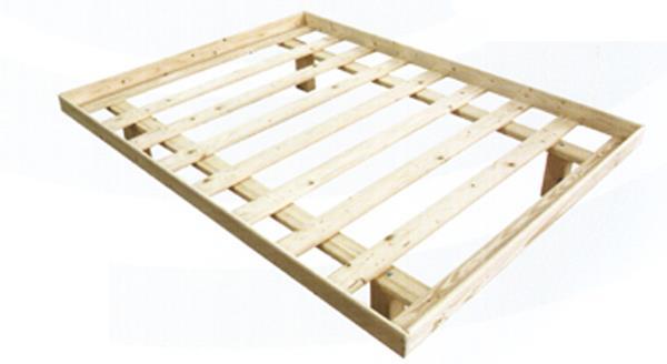 מיטה זוגית מעץ+מסגרת 190/140- 550 ש''ח